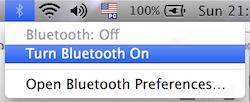 Bluetooth Desligado
