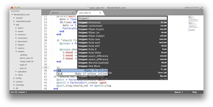 Sublime Text Snippets