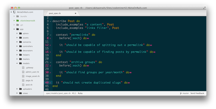 Atom Code Folding