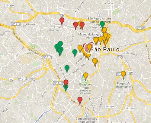All Tourism Points in São Paulo