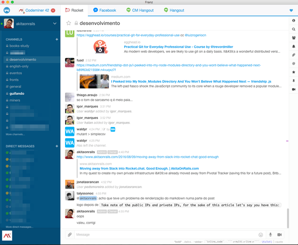 Moving away from Slack into Rocket chat  Good Enough  | AkitaOnRails com