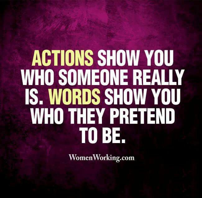 Actions and Words